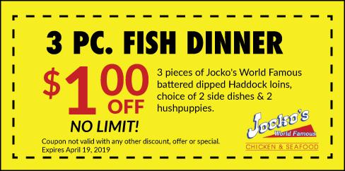 Jockos Fish Dinner Special